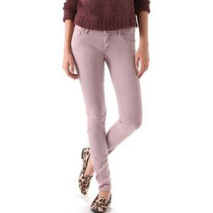 Mother The Looker Ankle Zip Mid-Rise Skinny Jeans